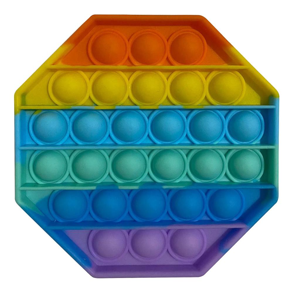 Pop It Fidget Toy - Oktagon Regnbåge
