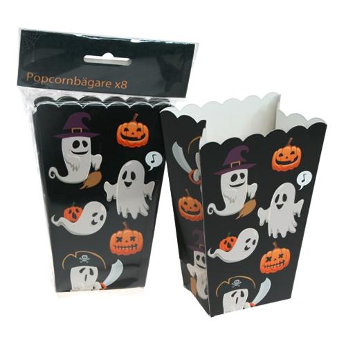 Popcornbägare Halloween - 8-pack