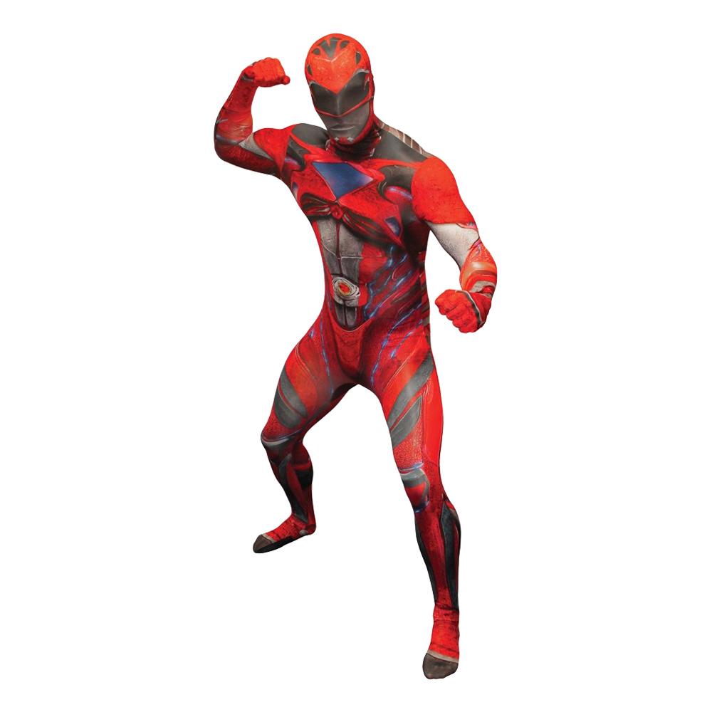 Power Ranger Röd Deluxe Morphsuit Maskeraddräkt - XX-Large