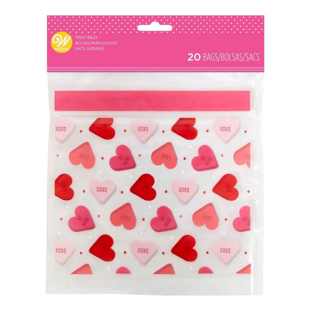 Presentpåsar Förslutbara Alla Hjärtans Dag - 20-pack