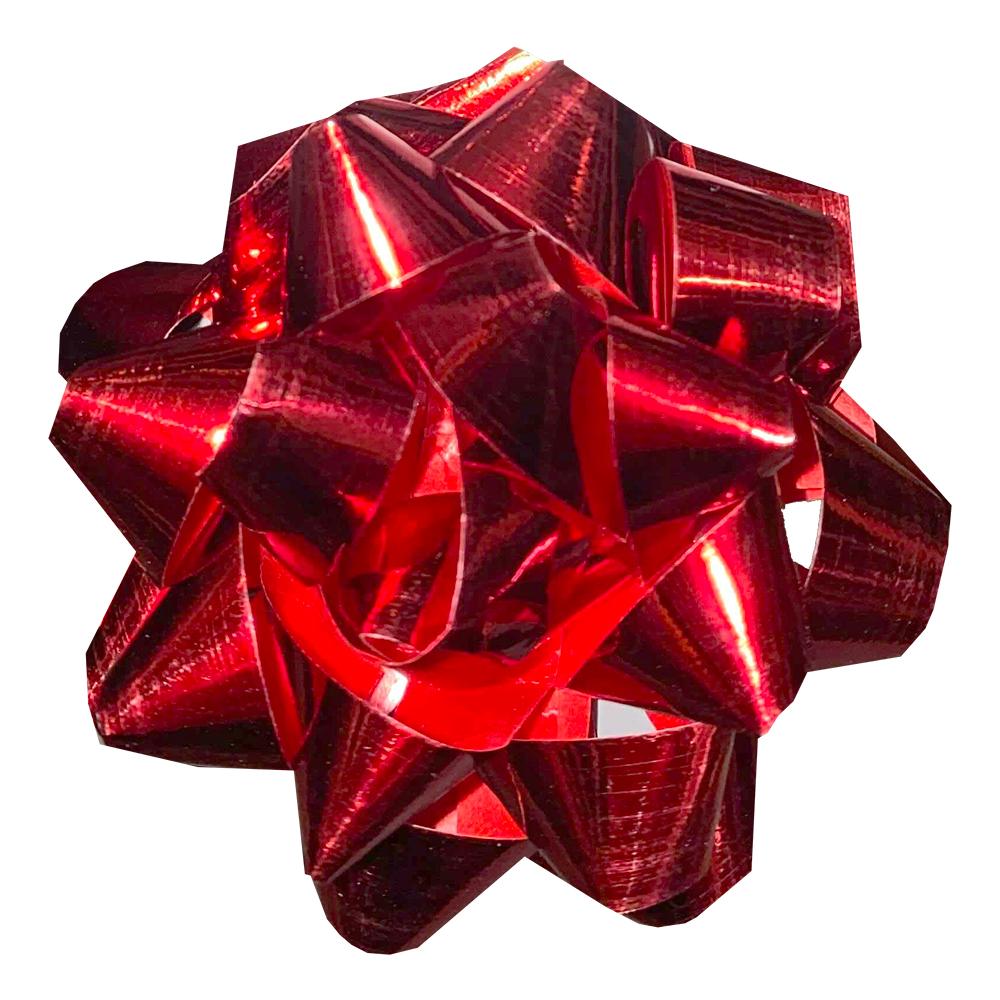 Presentrosett Röd Metallic