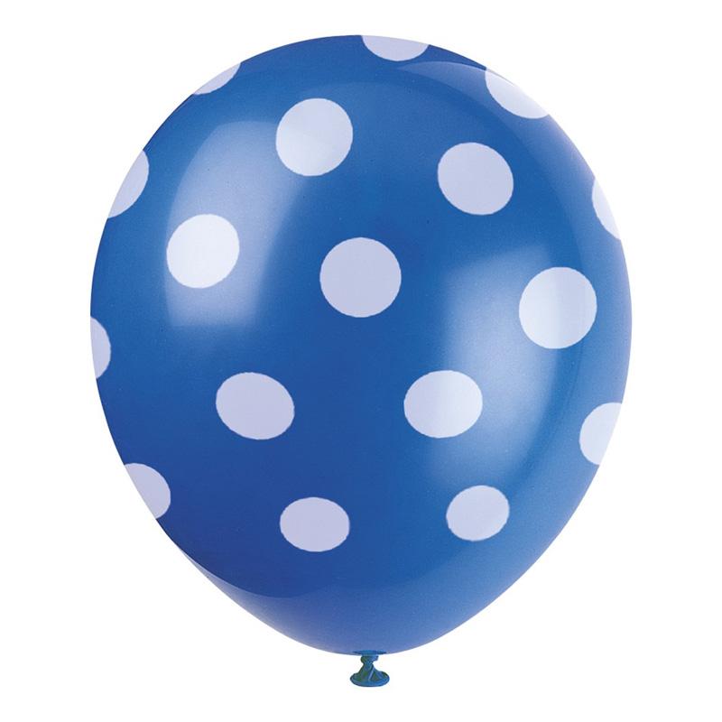 Prickiga Ballonger Blåa - 6-pack