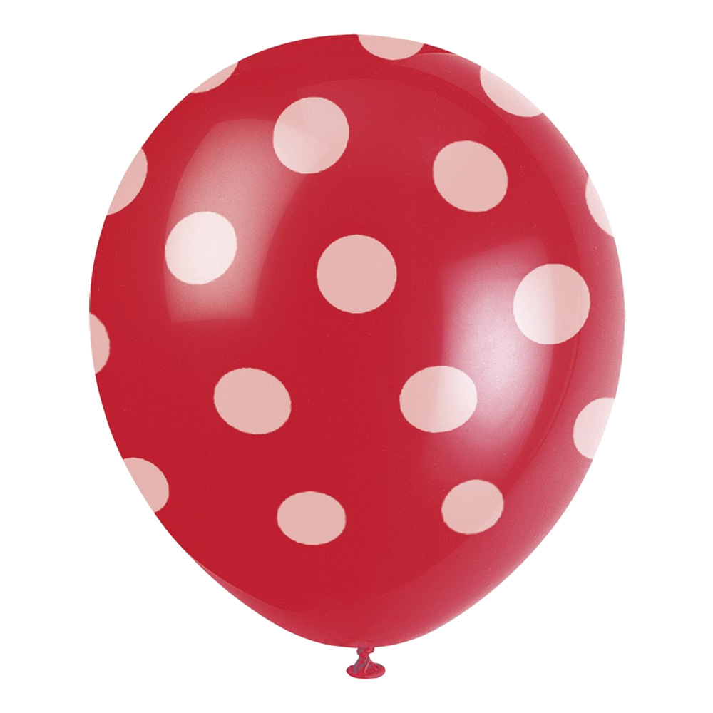 Prickiga Ballonger Röda - 6-pack