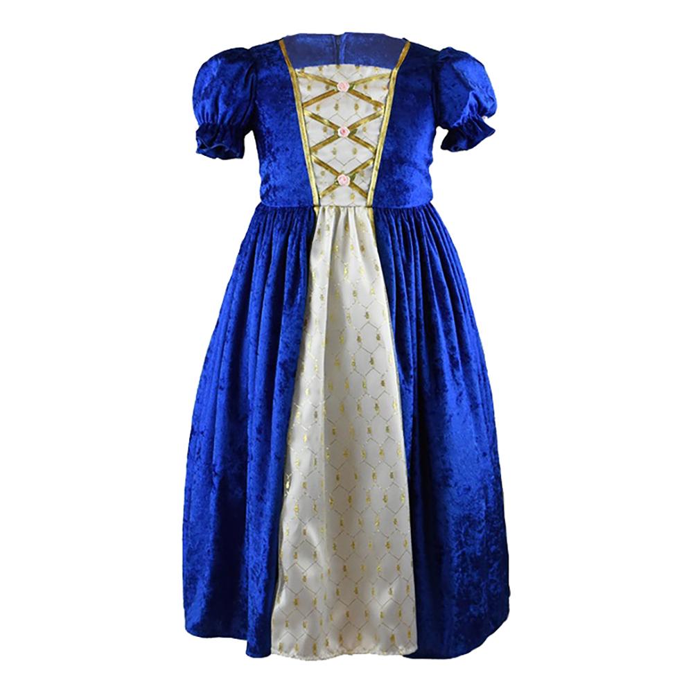 Prinsessklänning Sammetsblå Barn - Large