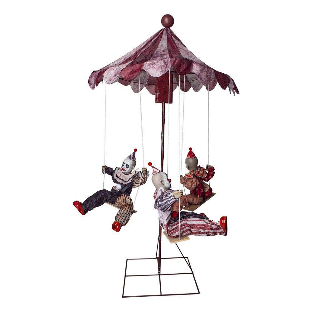 Prop Clowner på Karusell med Ljud och Ljus