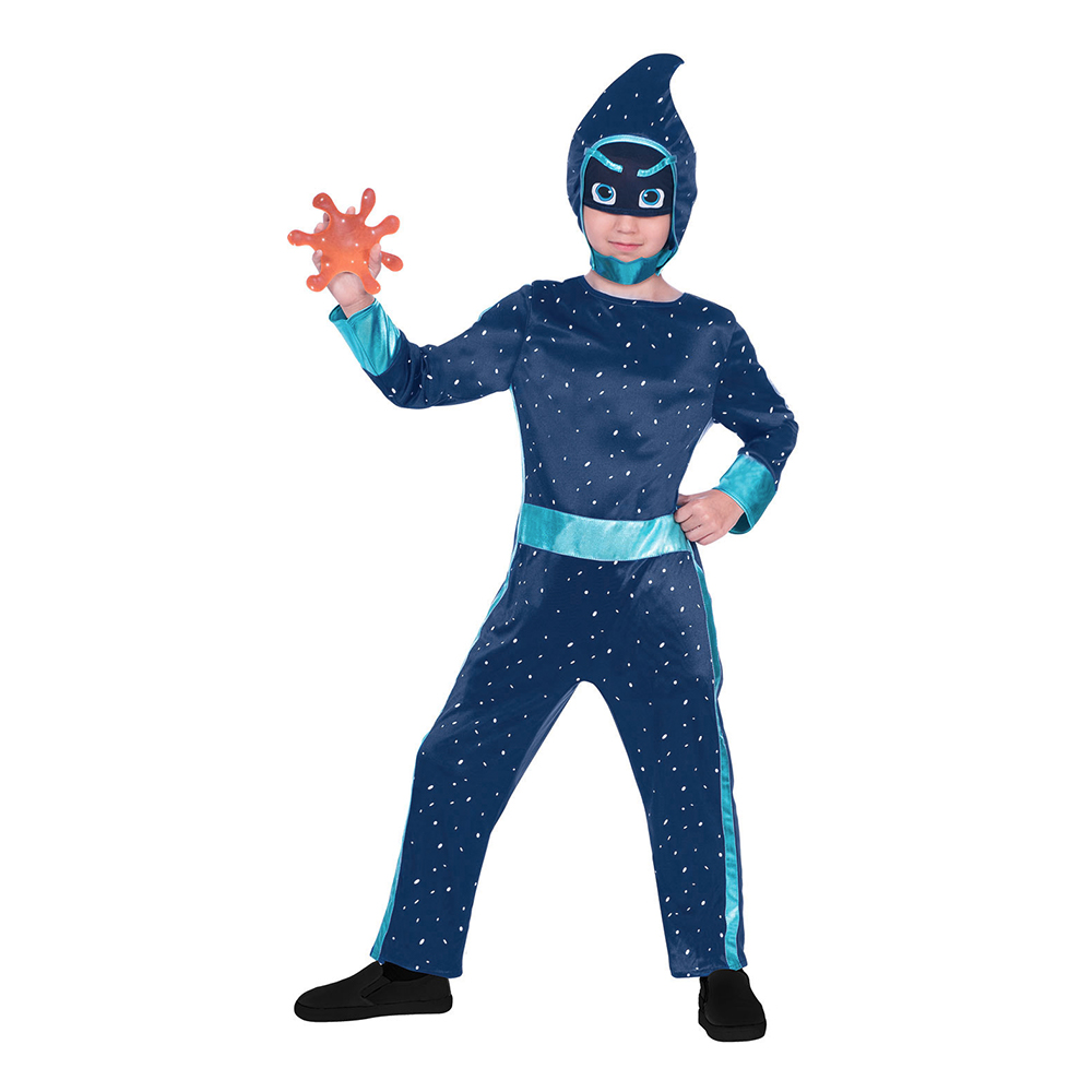 Utklädningsdräkter - Pyjamashjältarna Night Ninja Barn Maskeraddräkt - Small