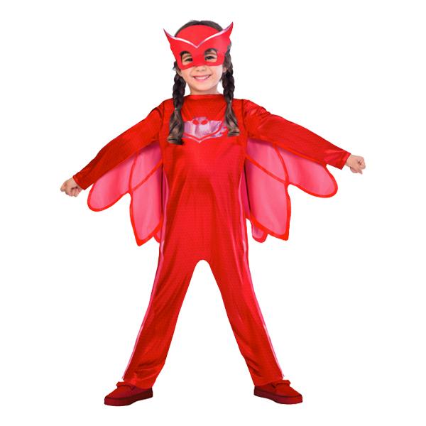 Pyjamashjältarna Ugglis Barn Maskeraddräkt - Medium