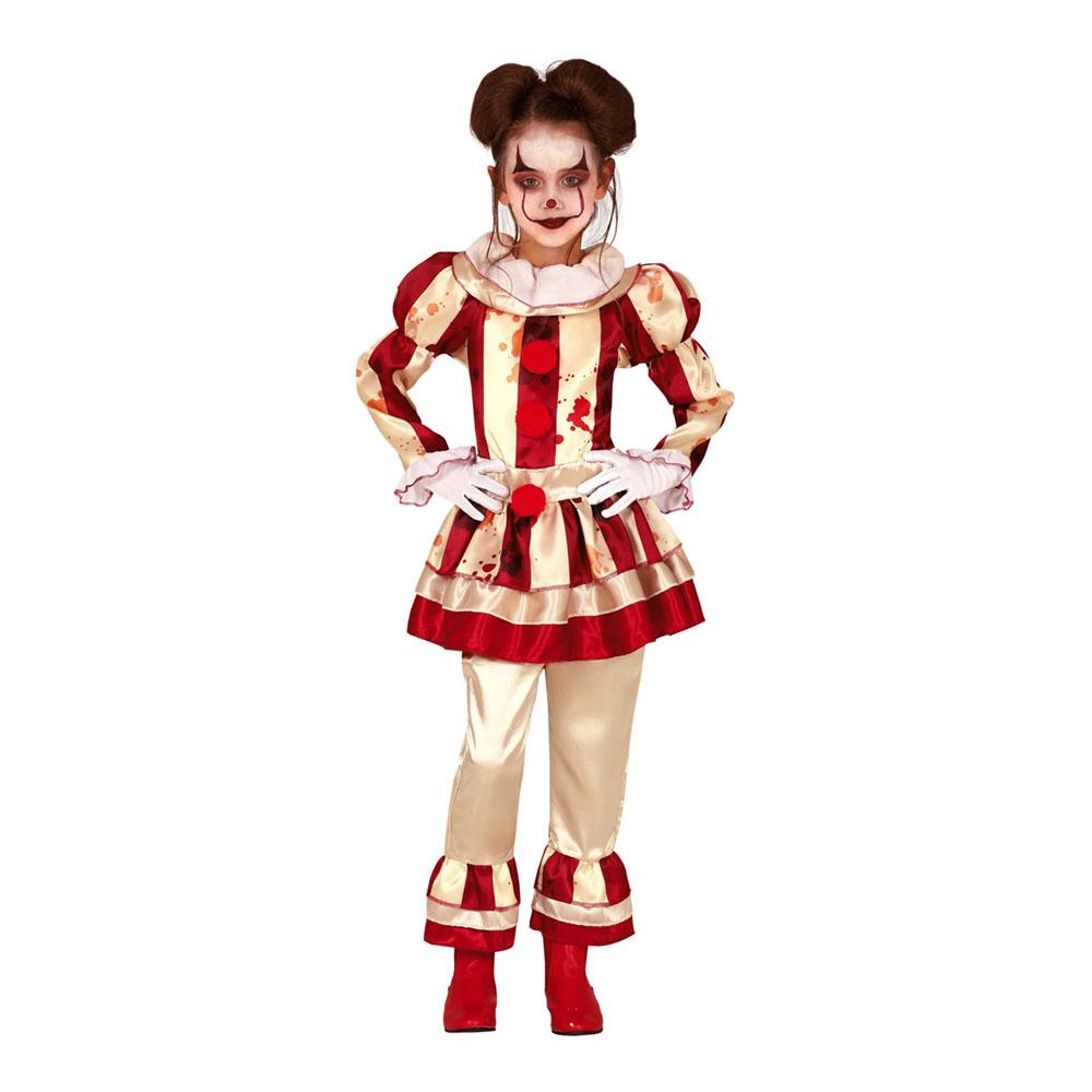 Randig Clown Barn Maskeraddräkt - Small