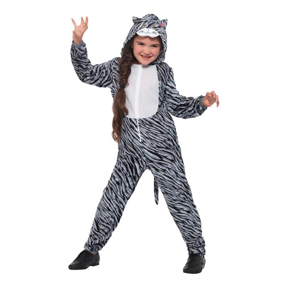 Utklädningsdräkter - Randig Katt Barn Maskeraddräkt - Small