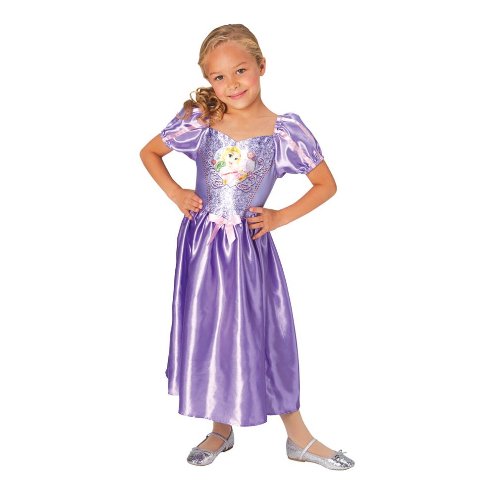 Rapunzel Barn Paljettklänning Maskeraddräkt - X-Large