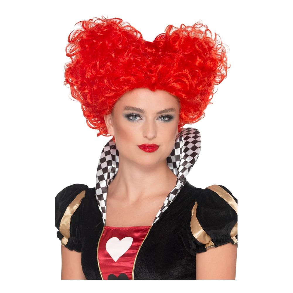 Red Queen Hjärtformad Peruk - One size