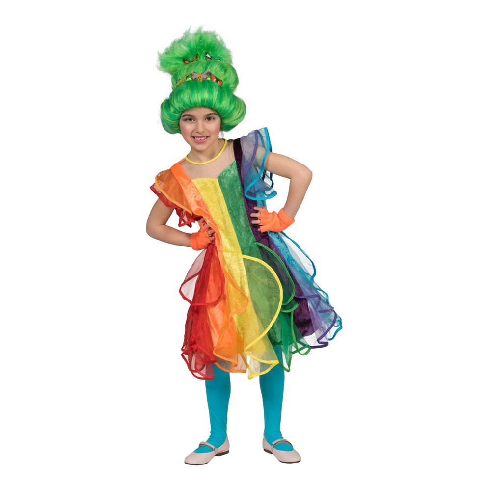 Regnbågsklänning Barn Maskeraddräkt - Small