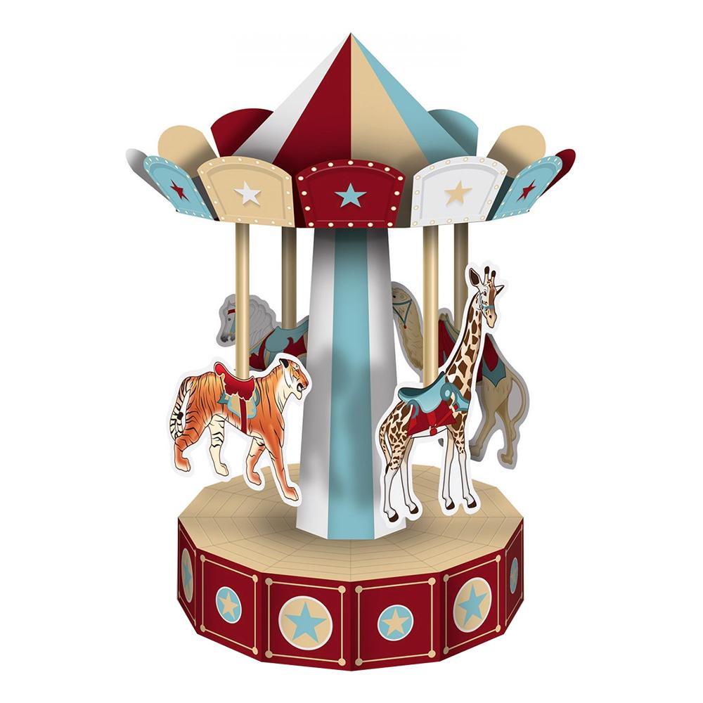 Retro Cirkuskarusell Bordsdekoration