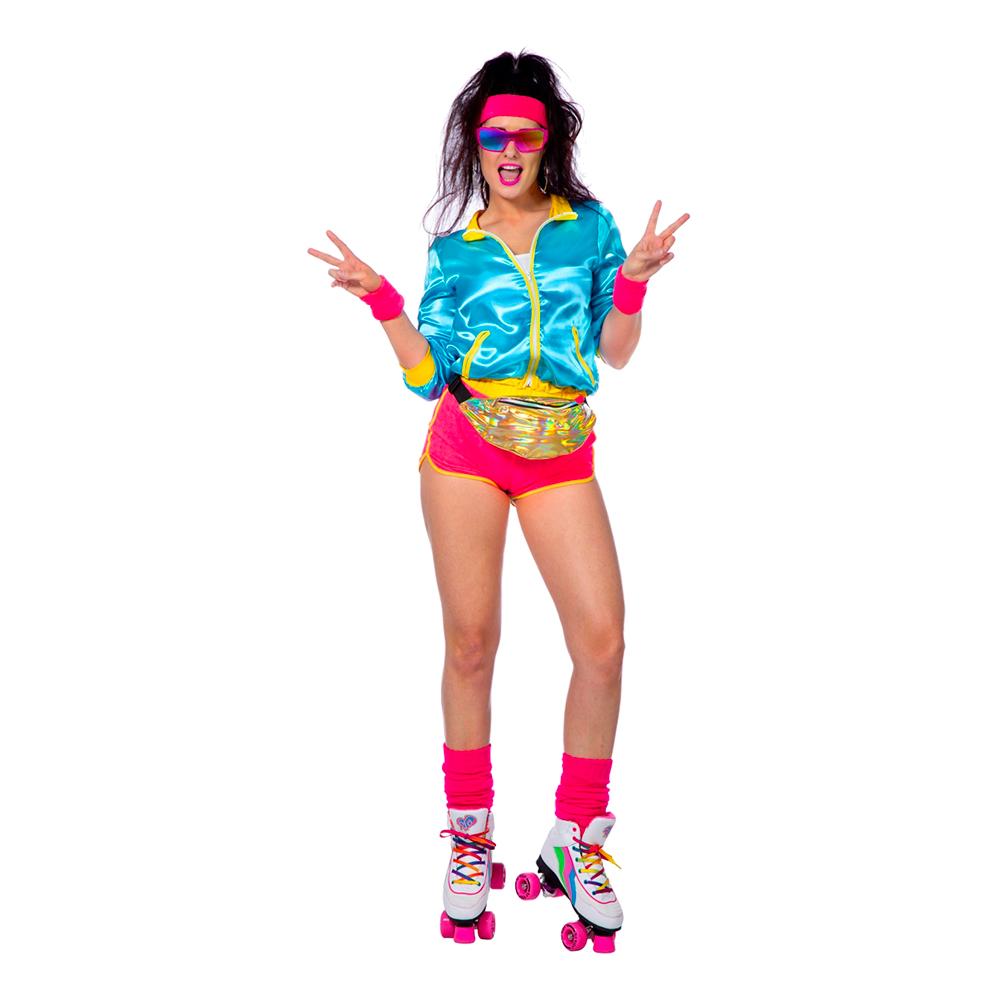 Retro Disco Rollerskater Dam Maskeraddräkt - 40