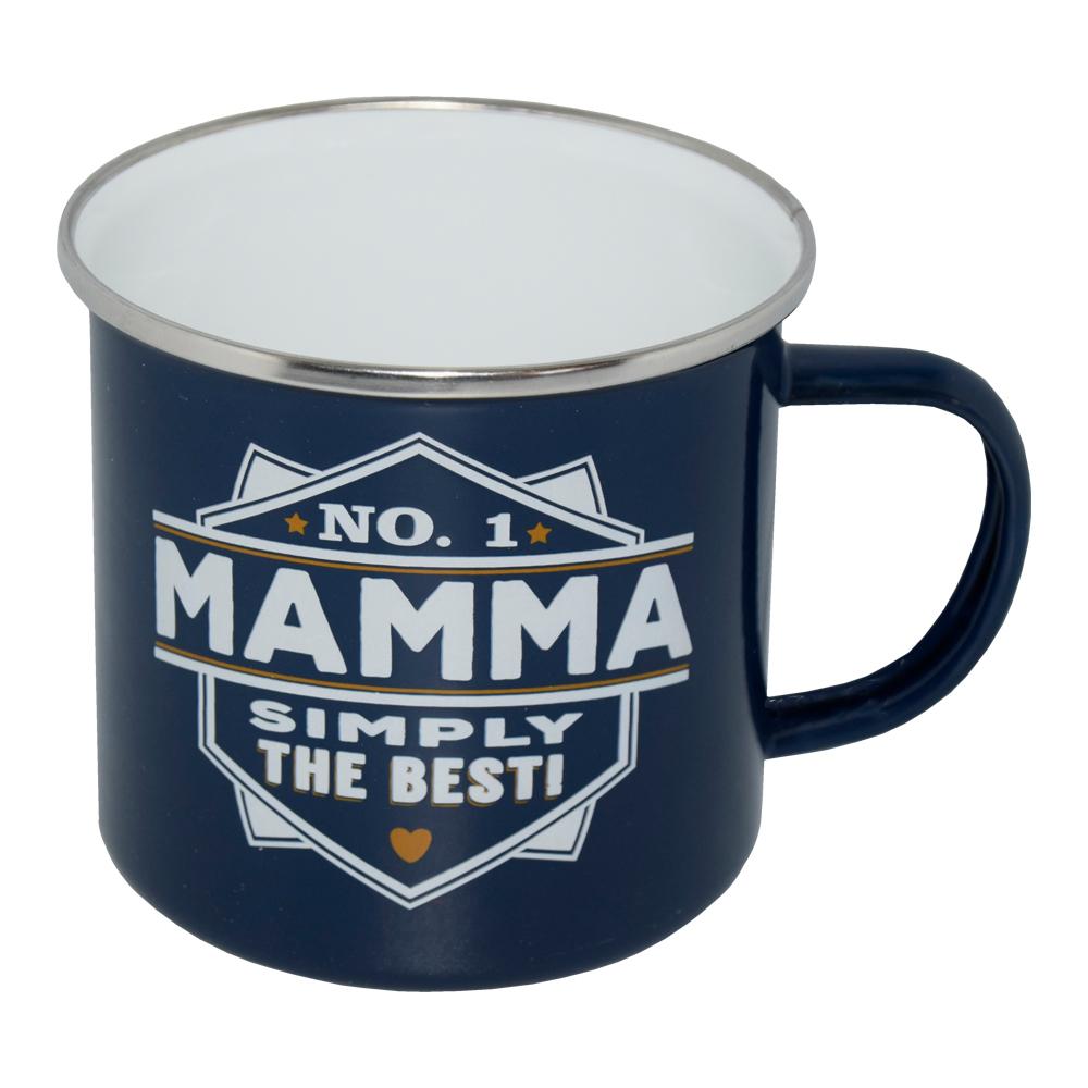 Retromugg med Text - No.1 Mamma