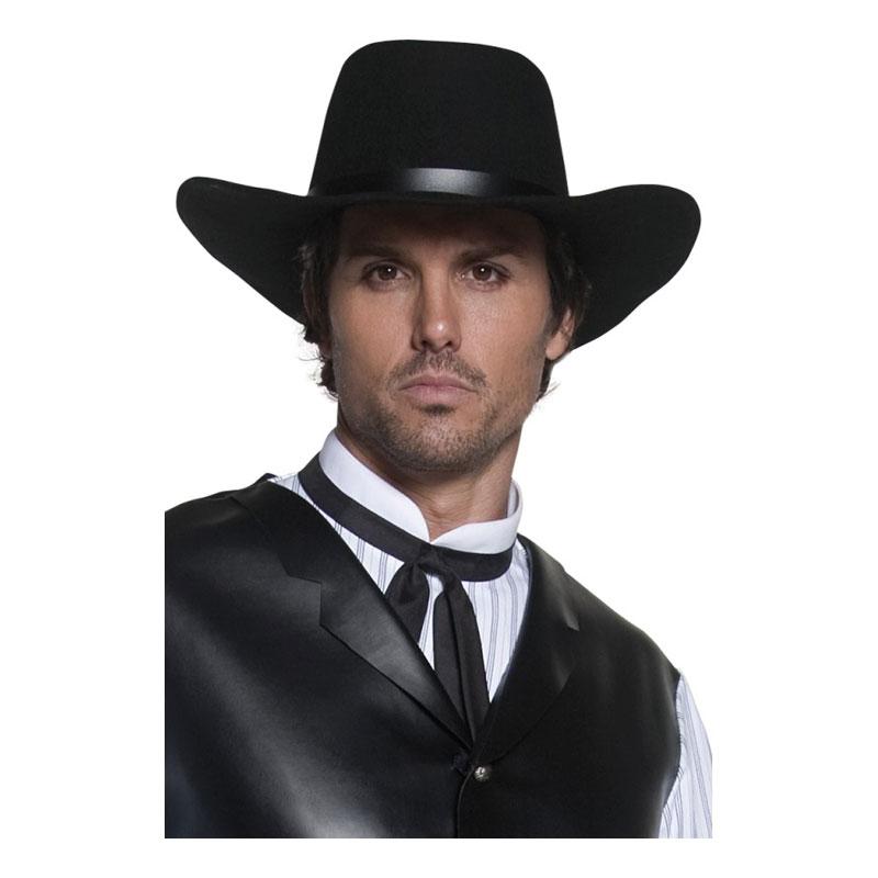 Revolverman Svart Cowboyhatt - One size