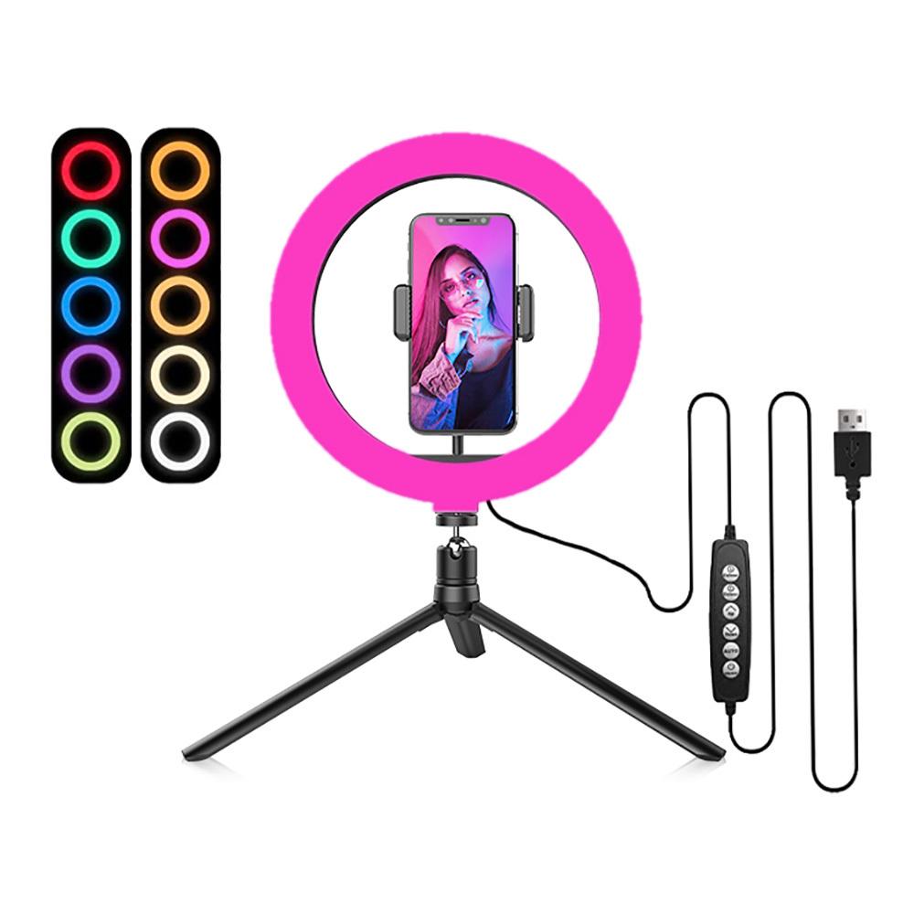 TikTok RGB Ring Light Selfie Lampa