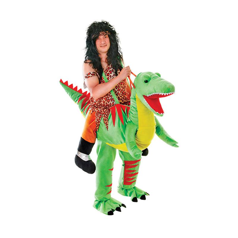 Ridande Dinosaurie Maskeraddräkt - One size