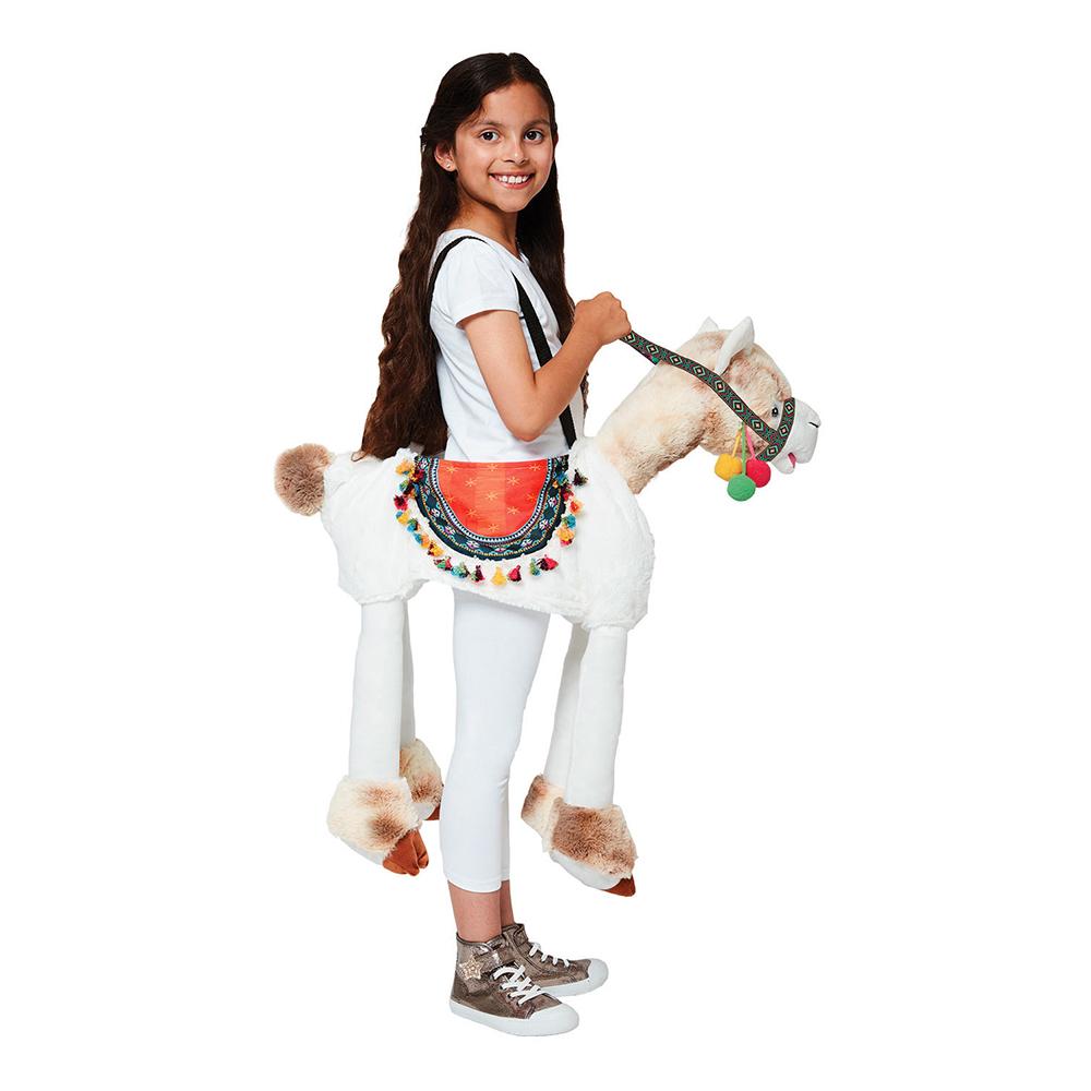 Ridande Lama Barn Maskeraddräkt - 3-8 år