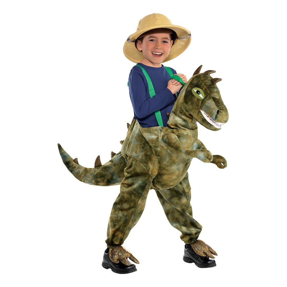 Ridande T-Rex Barn Maskeraddräkt - 3-5 år