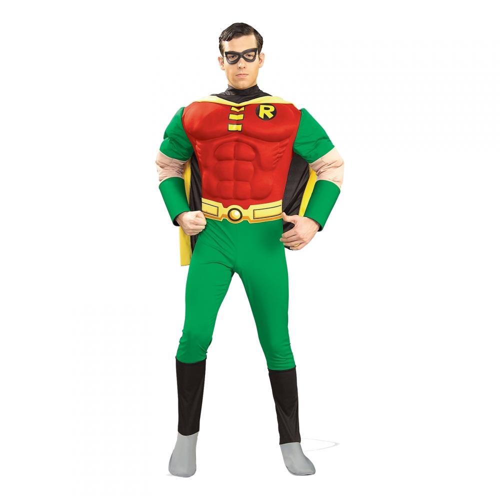 Robin med Muskler Maskeraddräkt - Small