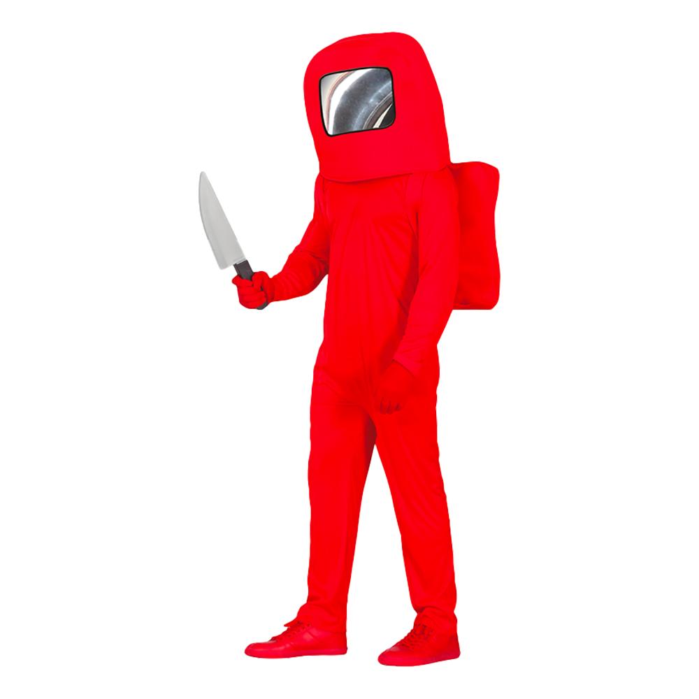 Röd Astronaut Teen Maskeraddräkt - 14-16 år