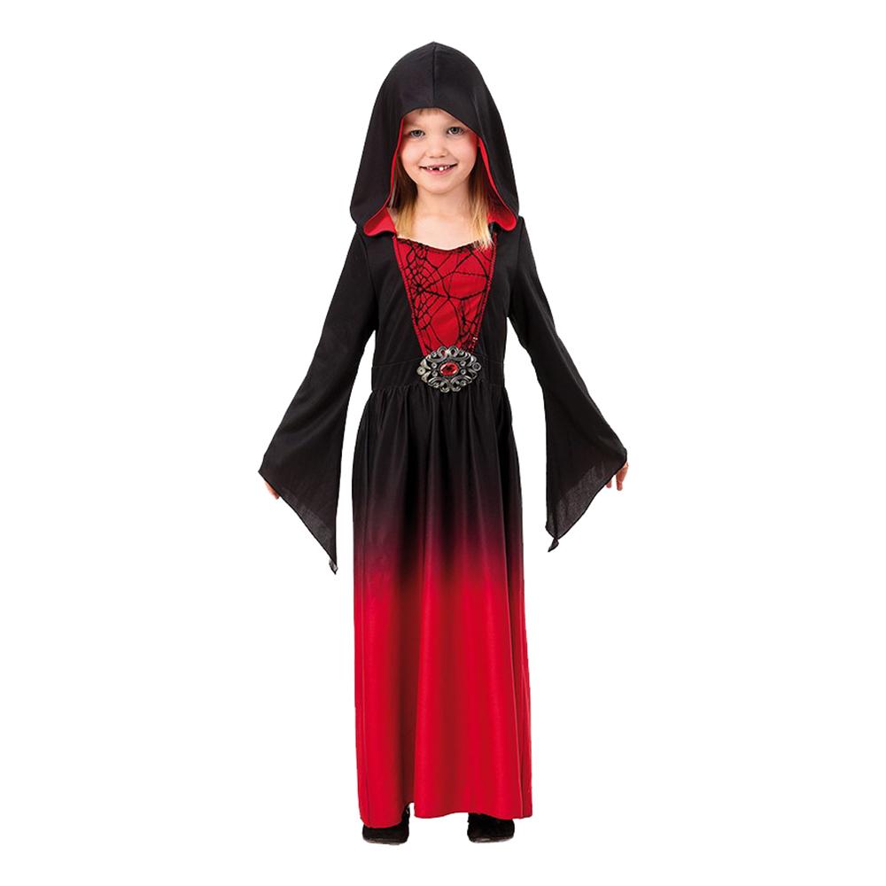 Röd Vampyrklänning Barn Maskeraddräkt - 122-134