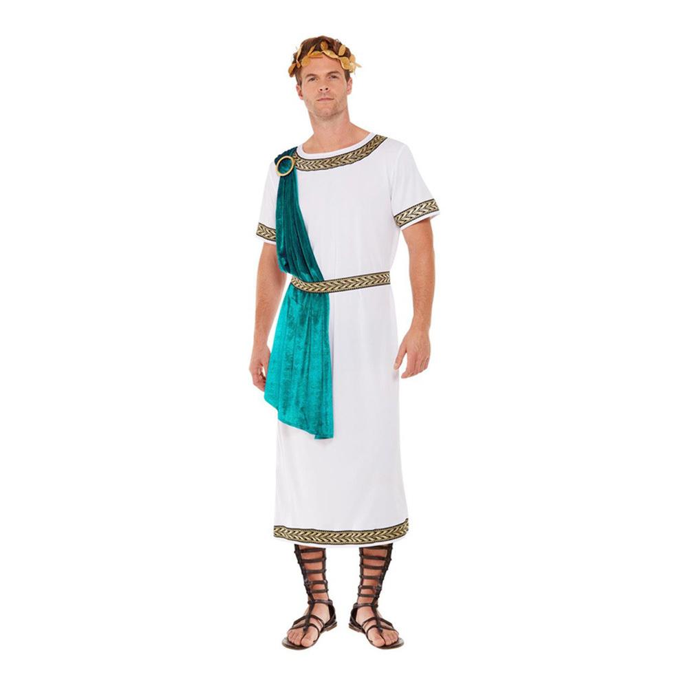 Romersk Kejsare Toga Deluxe Maskeraddräkt - Medium