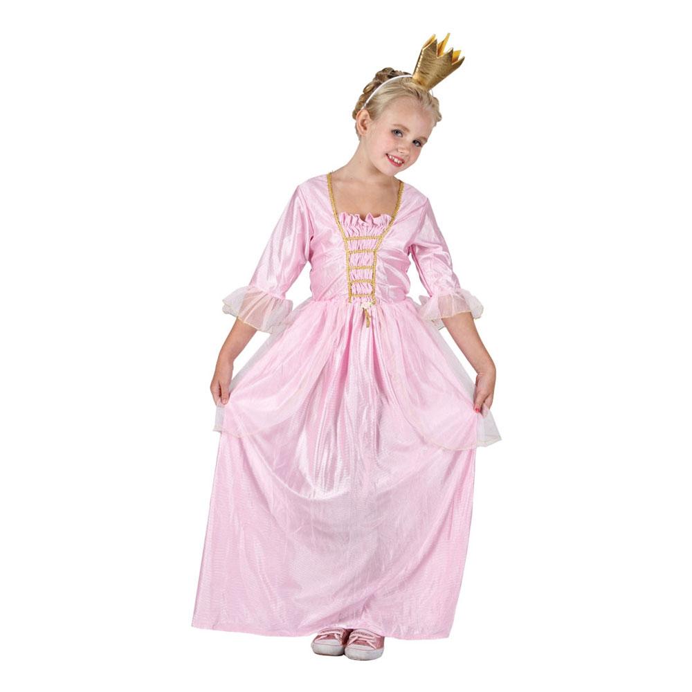 Rosa Prinsessa Barn Maskeraddräkt - Medium