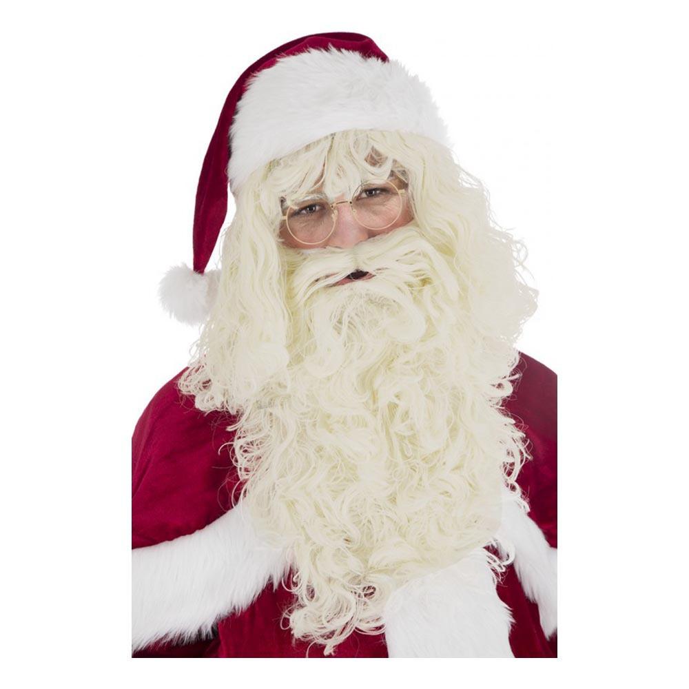 Santa Claus Perukset Deluxe Natur - One size