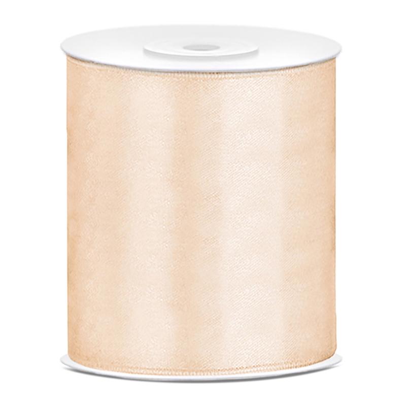 Satinband Cream - 100 mm x 25 m