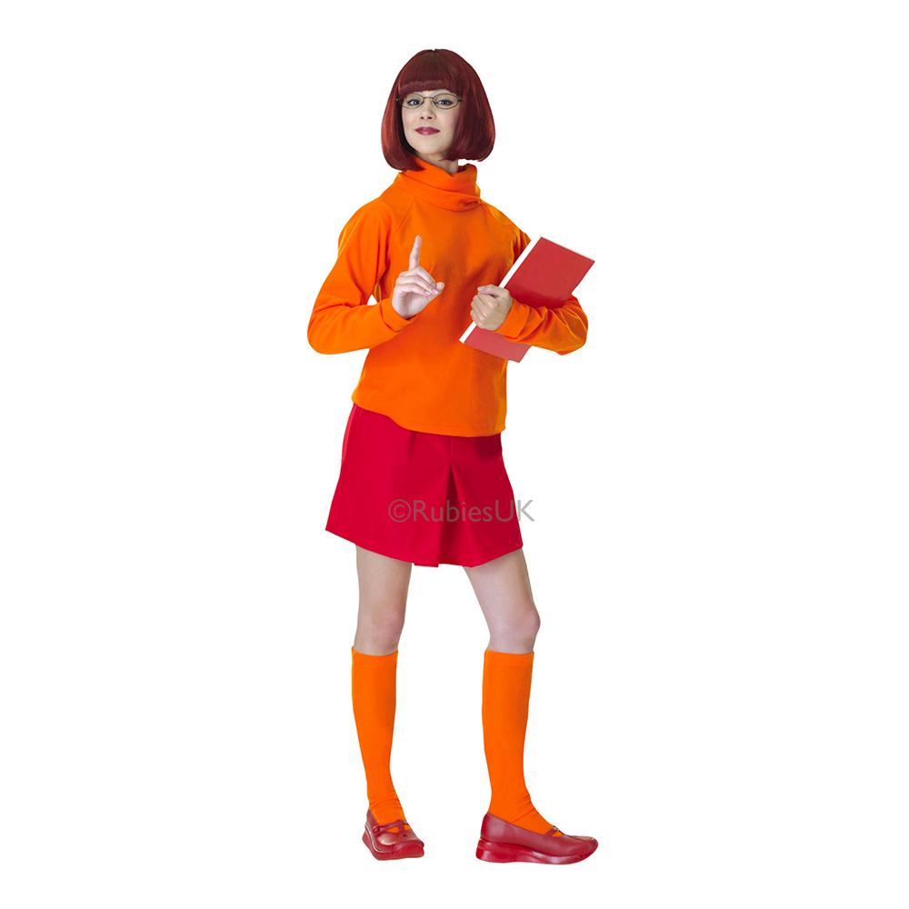 Scooby Doo Velma Deluxe Maskeraddräkt - Small