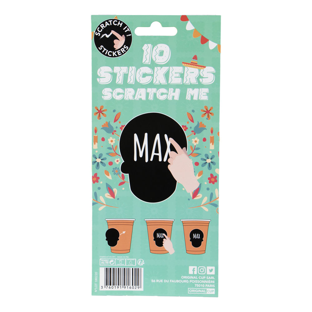 Scratch It Stickers Mexico - 10-pack