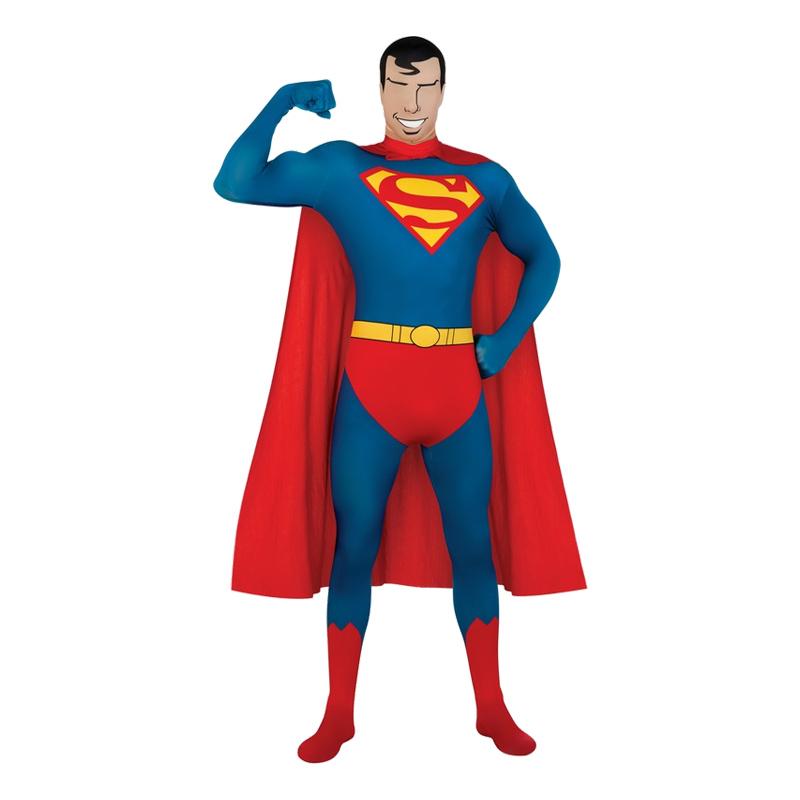 Second Skin Superman Maskeraddräkt - Medium