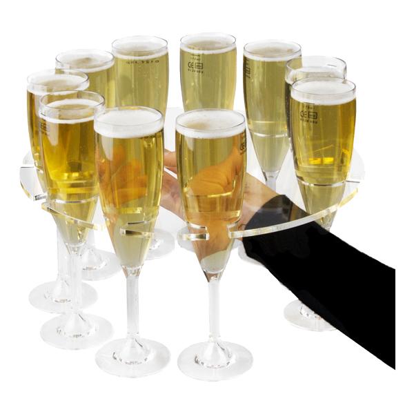 Serveringsbricka för Champagneglas