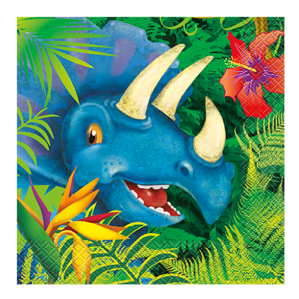 Dinosaurie - Servetter Dinosaurier - 16-pack
