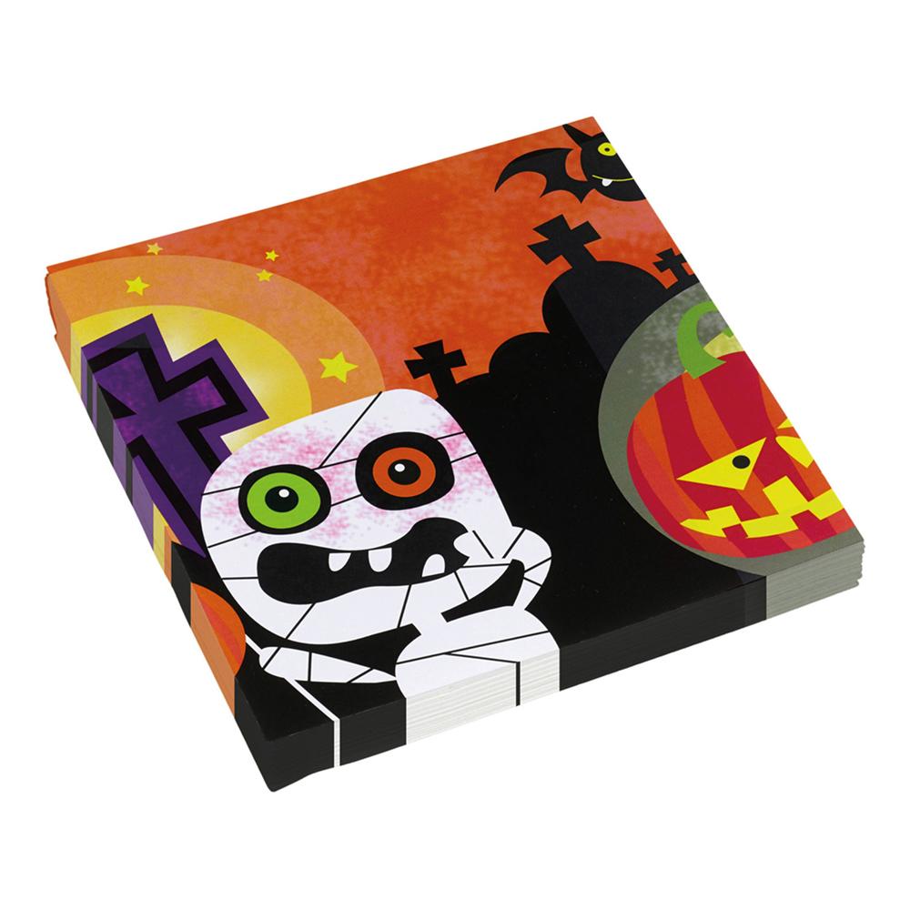 Servetter Halloween Gravplats - 20-pack