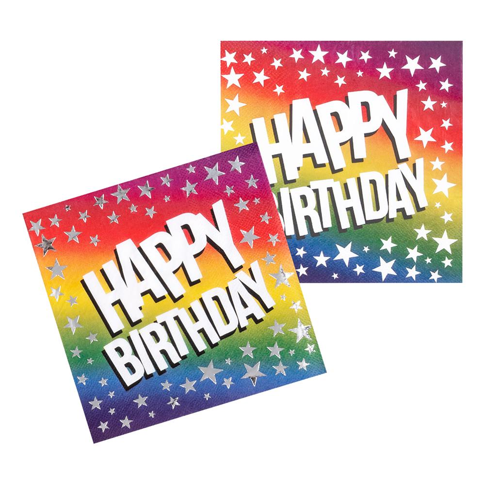 Servetter Happy Birthday Stars - 12-pack