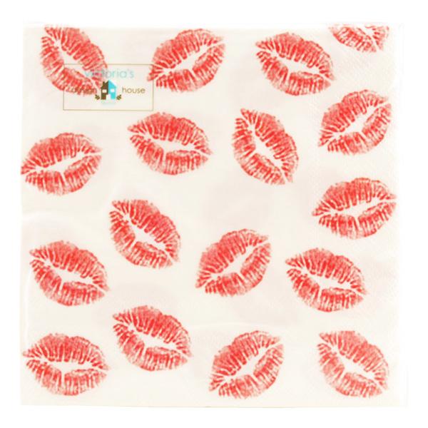 Servetter Hot Lips - 20-pack