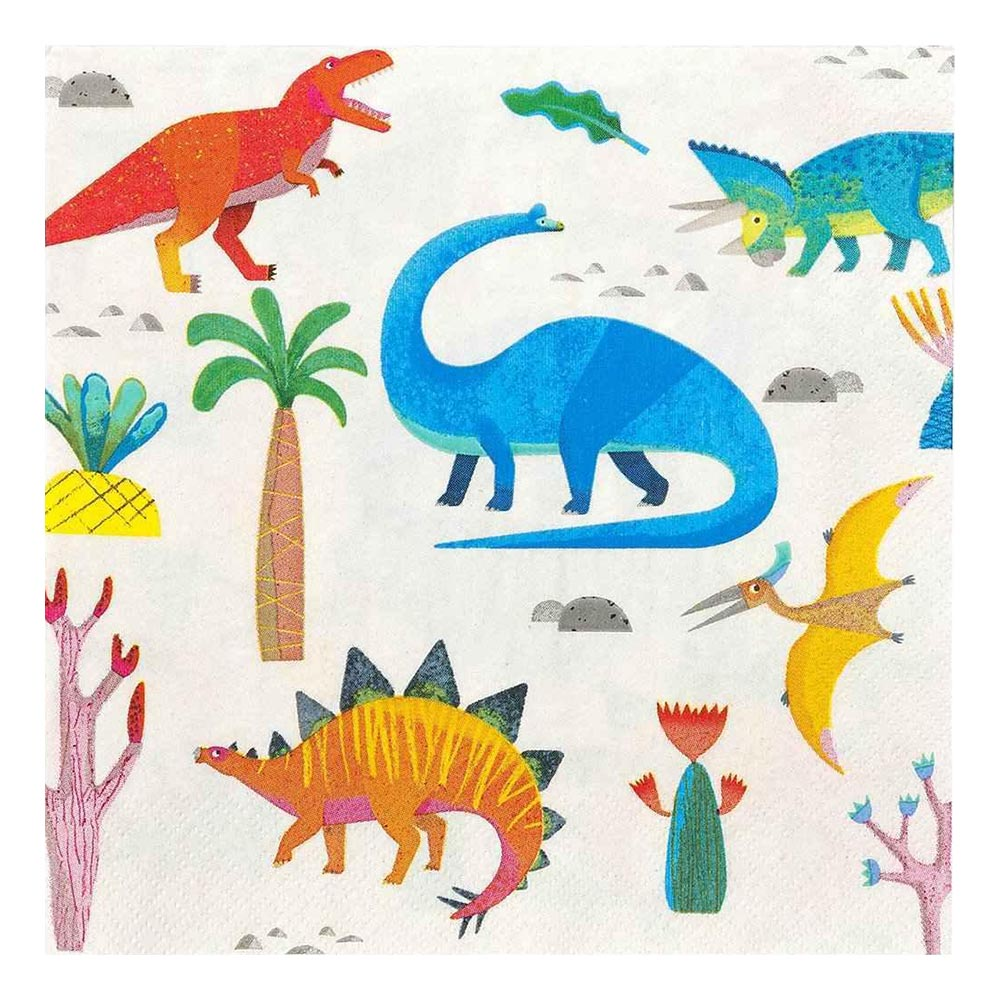 Servetter Party Dinosaurier - 20-pack