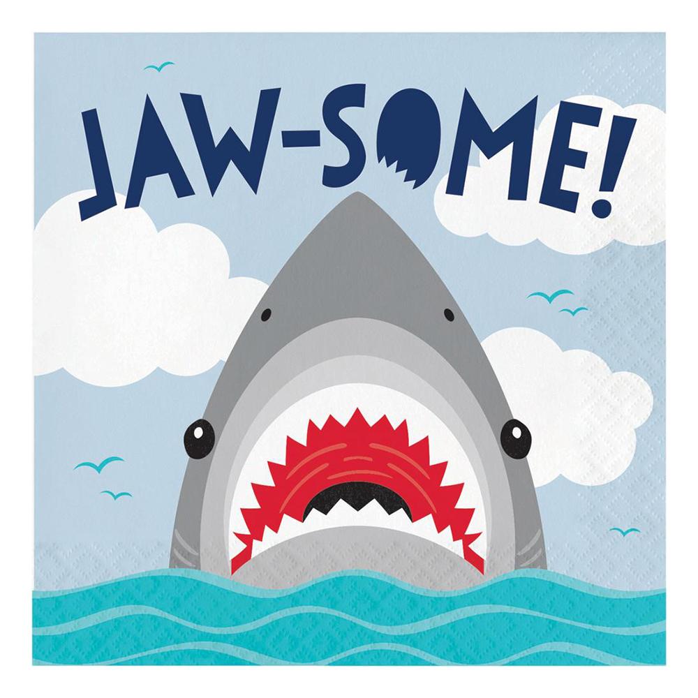 Servetter Shark Party - 16-pack