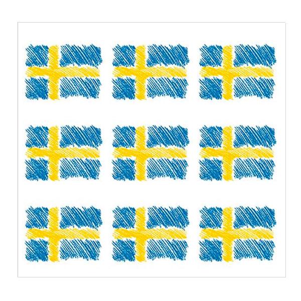 Servetter Svenska Flaggor - 20-pack