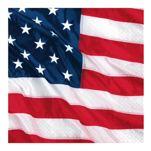 Servetter USA-flagga - 16-pack