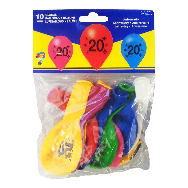Sifferballong Latex 20 - 10-pack