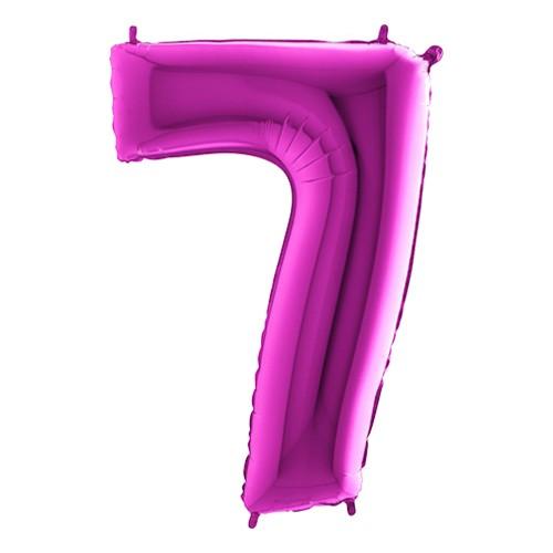 Sifferballong Lila Metallic - Siffra 7