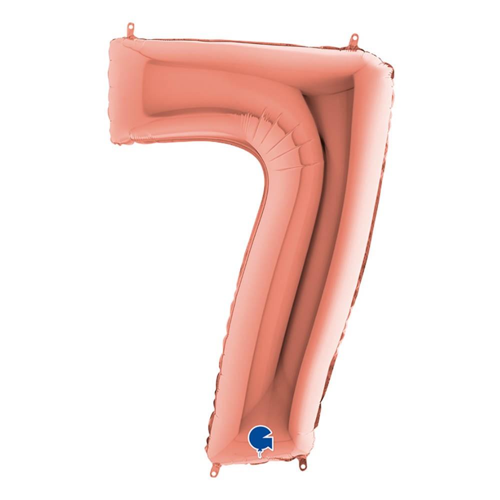 Sifferballong Roséguld Metallic - Siffra 7