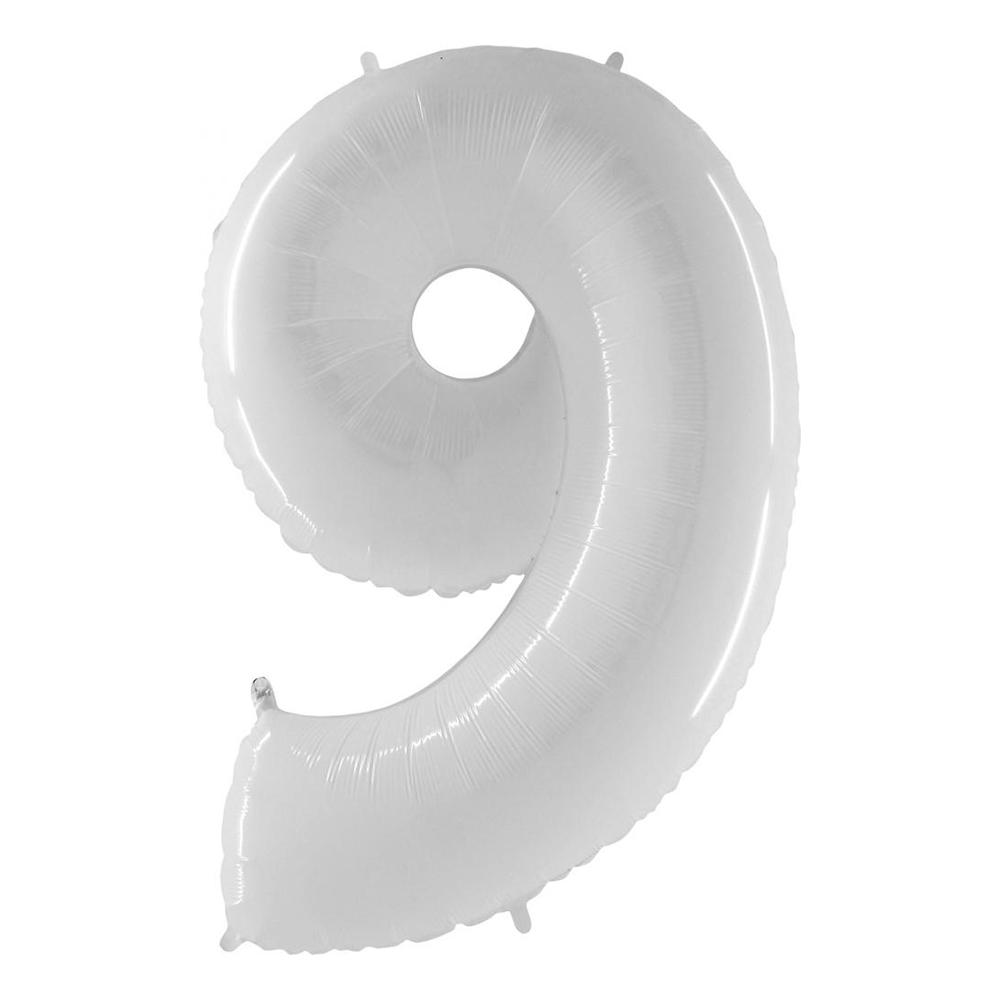 Sifferballong Vit - Siffra 9