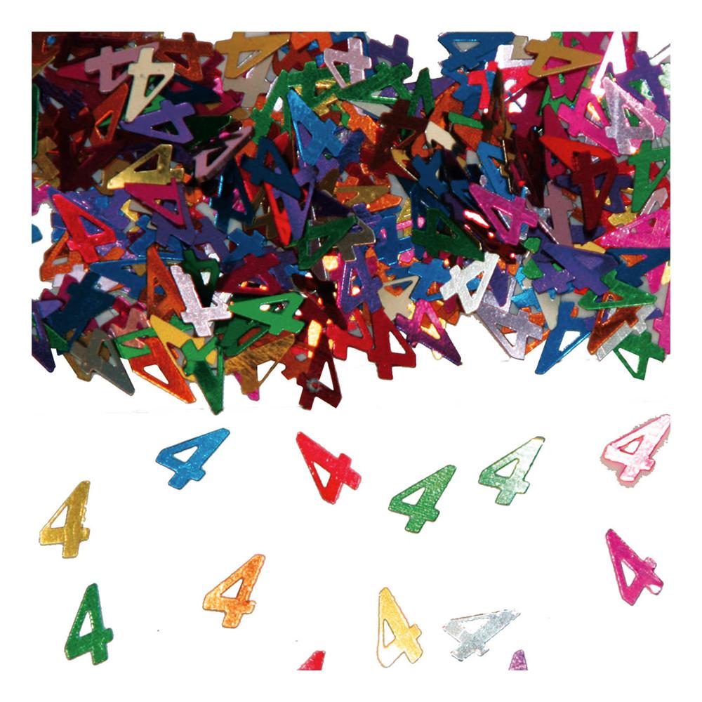 Sifferkonfetti - Siffra 4