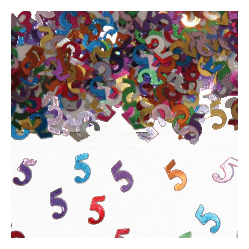 Sifferkonfetti - Siffra 5