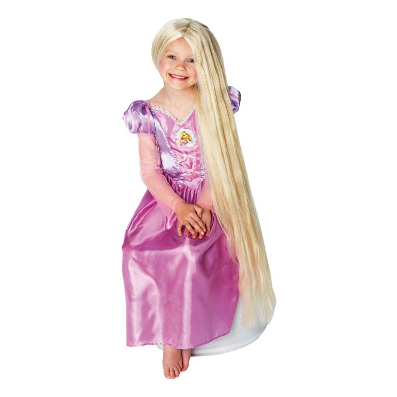Självlysande Rapunzel Barn Peruk - One size